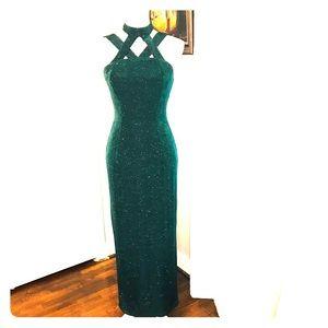 Jessica McClintock Gunne Sax Green Sparkling Gown